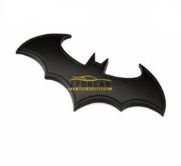 Wholesale Black Adhesive Metal Bat Auto Logo Car Sticker Bat Badge Emblem Tail Decal DIY Home Decoration