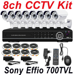 Wholesale cheap best sony effio TVL vari focal zoom lens cctv security video camera ch cctv kit cctv system channel full D1 HD DVR