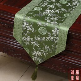 Elegant Patchwork Chinese knot Luxury Feast Table Runners Damask Cherry blossoms High End Table Cloth Bed Runner L200 x W35cm