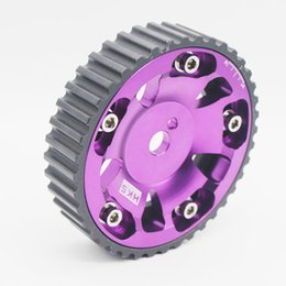 Wholesale RS MTX PURPLE ALUMINUM RACING ENGINE CAM GEAR G15 L ENGINE MIT MIRAGE COLT SUMMIT for Mitsubishi Mirage Hyundai Excel