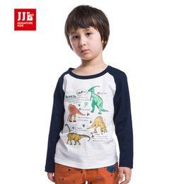 Promotion shirt de douille d'impression des animaux gros Gros-boys t-shirt à manches longues 2,015 automne nouvelle imprimé animal tee pour le garçon dinosaure mode t-shirts imprimés garçons vêtements