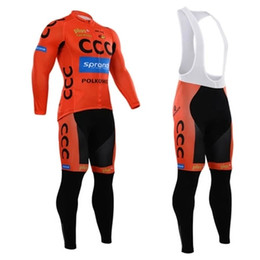 Descuento pro invierno baberos de ciclismo Pro Team CCC Tour de Francia Ropa de Ciclismo de Invierno Ropa Ciclismo Ciclismo Termal de Ciclismo Jersey y (Bib) Pantalones Set Inviero Bike Wear