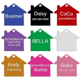 100 pcs lot Mixed Colors 2 Sides Personalized Dog ID Tags Customized Cat Pet Name Phone No.(Don't offer Engrave Service)