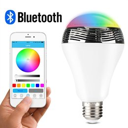 Smart Bulb Bluetooth Audio Speakers 3W E27 LED RGB Light Music Bulb Lamp Color Changing via App Control Android Iphone Compatible