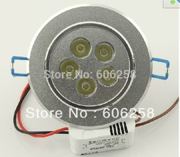 Wholesale-10pcs 5W LED Ceiling Lamp, 5 * 1W Jewelry Counter Spot Light White Warm White !