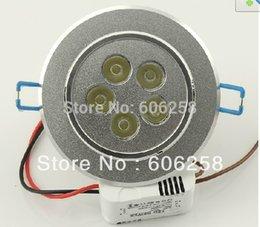 Wholesale-10pcs 5W LED Ceiling Lamp, 5 * 1W Jewelry Counter Spot Light White Warm White !