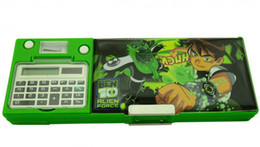 Wholesale Best Selling students pencil case with calculator hot sale pencil box