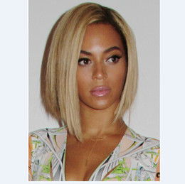 Wholesale Dark Root Blonde bob Wigs Ombre Blonde Short Bob Wigs African American Ombre Blonde Bob Wigs For Black Women Synthetic Lace Front Wig