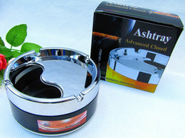 Wholesale High grade can rotate the ashtray stainless steel sealing ashtray