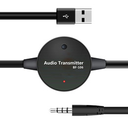 Wholesale BF mm Stereo Speaker Audio Bluetooth V3 Wireless FM Transmitter Music Player output to mobile phone MP3 MP4 PC