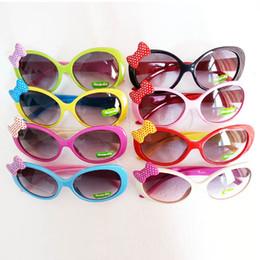 Wholesale Sun Glasses for Toddlers Kids Plastic Frame Sunglasses Girls Baby Bowknot Cat Eye Shades Goggles Eyewear UV400 Freeshipping