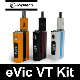 Wholesale Joyetech eVic VT starter Kits box mod Original Authentic Product joyetech evic vt eGo ONE mega atomizer with one CL Ni head support Ti