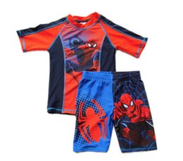 Wholesale Very Fashion Baby Boys Swiming Clothing New Arrival Disney Spiderman Pattern Swimwear Children Cool Boys Summer Swimwear L0493