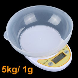 Wholesale 5kg g Portable Digital Electronic Kitchen Scale Food Parcel Weighing Balance with Bowl