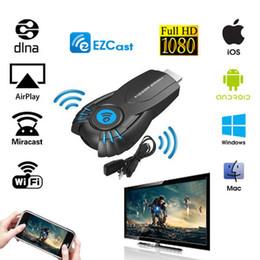 Wholesale EZcast Smart Tv Stick EZ cast Android Mini PC Miracast Mirror cast Dongle wifi Ipush better than google chromecast chrome cast