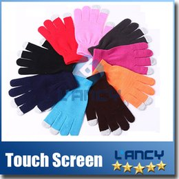 Wholesale High quality Knit Wool Touch Gloves for iPhone Touch Screen Gloves for iphone plus s galaxy S7 ipad via DHL
