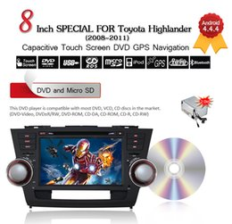 Wholesale 8 quot Din Android Car DVD Player For Toyota Highlander G Wifi Bluetooth GPS Navigation Free GB Card CDVD0015