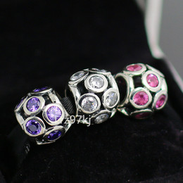 Authentic 925 Sterling Silver Charms and Murano Glass Bead Set with Charm Box Fits European Pandora Jewelry Charm Bracelets CB038