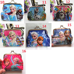 New fashion baby girls Frozen Coin Purses kids Snow Queen wallet chilldren princess Elsa Anna money bag,party supplies Kids gift bag