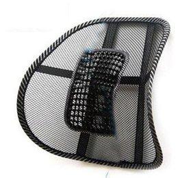 Promotion oreillers de soutien lombaire Soutien lombaire chaise de bureau de coussin de massage de massage lombaire oreiller soutien tournure gros-automatique des fournitures d'ameublement