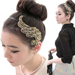 Korean Fashion Style Angel Wing Rhinestone Women Hair Band Headband 1O1S