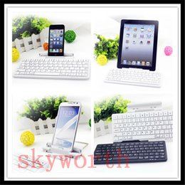 Wholesale Universal Portable Wireless Bluetooth Keyboard For iPad air mini iphone S Samsung Dustproof Waterproof Aluminium