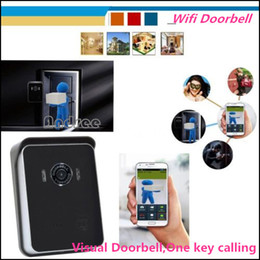 Wholesale Wireless WiFi Video Visual Door Phone Intercom System Home Security for iPhone Samsung Phone Tablet PC EU US Plug AE WD01