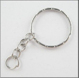 Split Key 4 Key Rings Opening KeyChains Vintage Silvers Plated Charms For Keys Car DIY Jewelry Findings Couple Accessories 300pcs Z669