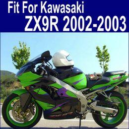Free Customize fairings for Kawasaki ZX9R fairing kit 2002 2003 purple green black body kits ninja ZX-9R 02 03 ZX 9R PP7