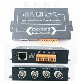 Balun pasivo de vídeo de 4 canales en Línea-UTP 4CH Pasivo de Vídeo Balun Transceptor de la Cámara DVR de 4 BNC del CCTV