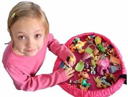 2017 stockage pour les jouets Nouveau muli-fonctionnelle enfants portables Kids Sac de stockage de jouets pour la famille Pique-nique voiture Tidy Lego Play Mats sac organisateur 150 / 80cm 3 couleurs 10pcs stockage pour les jouets autorisation