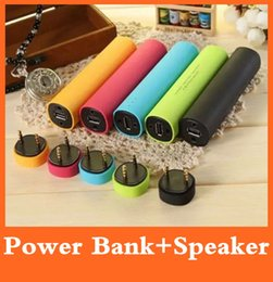Wholesale 2 in mAh Power Bank External Battery Charger Mini Speaker Sound Box for Iphone Plus S Samsung S6 Edge Note Sony LG HTC