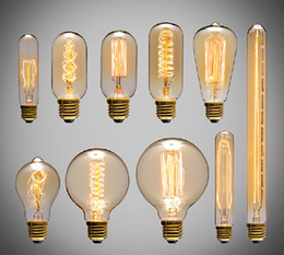 Wholesale 60W Filament Light classical Bulbs Vintage bulb Retro Industrial Style edison Lamp E27 Antique bulbs Fashion Incandescent lamps V V