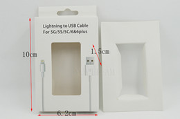 Wholesale packing for iphone6 s usb data cable color paper box g white paper strong with pvc window good looking