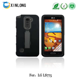 For LG Stylus 2 LS775 kickstand case silicon+pc 2in1 Hybrid robot case cellphone case