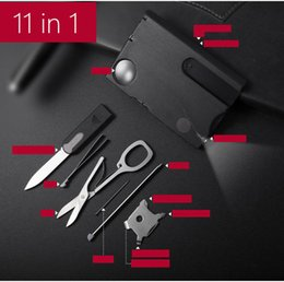 1 set=11 pieces tools paracord multiple multitool knife kit multifunctional survival emergency use outdoor travel hiking camping