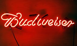 Wholesale Budweiser sign neon light without stands for beer bar pub decoration advertising cm