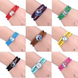 Wholesale 9 colors Hot New Frozen Bracelet Anna Elsa Princess Bracelet Jewelry Olaf bracelets christmas gift baby girls birthday gift Charm Bracelets
