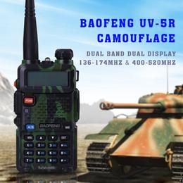 Promotion deux radios bidirectionnelles vente Gros-HOT !!! UV-5R Baofeng dualband UV-5R Radio 136-174 / 400-520mHZ radio bidirectionnelle (CAMOUFLAGE) toute vente de détail