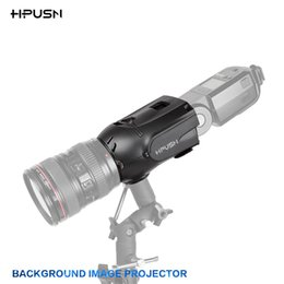 Wholesale HPUSN Photo Studio Photography Light Speedlite Flash Lighting Background image Projector For Canon Lens