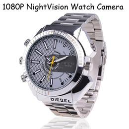 Acheter en ligne Caméra 8gb-8Go 1080p montre-bracelet caméra vision nocturne imperméable cacher caméras caméra cachée, montre vidéo étanche avec caméra DVR intégrée