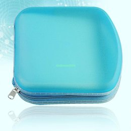 Wholesale EG5425 PORTABLE PLASTIC DISC DISK DVD CD VCD CDR STORAGE HOLDER WALLET CASE BLUE