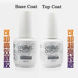 Wholesale gelish Top Coat Primer Base Uv Gel Nail Art Polish Professional Nail Art Kit Gel Top and Base Coat Uv Gel Polish