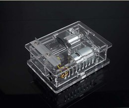 The third generation of miniature handmade table saw woodworking saws chainsaw cutting machine model Transparent acrylic