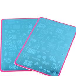 Nail Stamping Plates 4PCS lot Stamp Image Plate Stamping Nail Art DIY Image Plate Template 5.7*3.5Inch CF