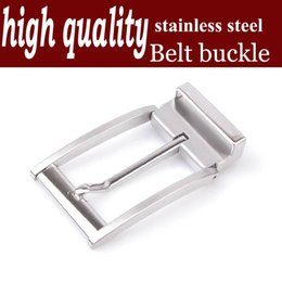 high quality medical stainless steel pin buckle agio men leather lead the waist lead the parts inside diameter of 3.4cm YSX001