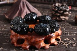 Wholesale Natural Gold Obsidian Obsidian bracelet brave dragon turtle bracelets fashion jewelry for men and women can manufacturers Tong
