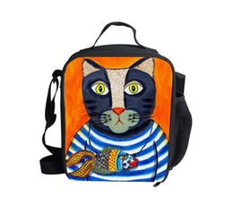 Wholesale 2015 Best Christmas Gift for Children D Animal Coolers Bag Outdoor Picnic Thermal Instulated Bag Cute Pet Cat Food Shoulder Bag