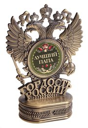 Wholesale 2015 Factory direct sales The double headed eagle trophy new metal mascot Father s Day gifts for The best Father souvenirs