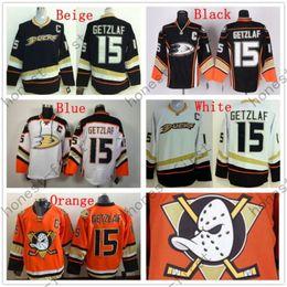 Wholesale Anaheim Ducks Hockey Jerseys #15 Ryan Getzlaf Jersey Third Black Alternate Cheap Stitched Ice Hockey Jerseys C Patch